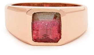 Jacquie Aiche 14kt Gold & Tourmalime Ring - Womens - Pink