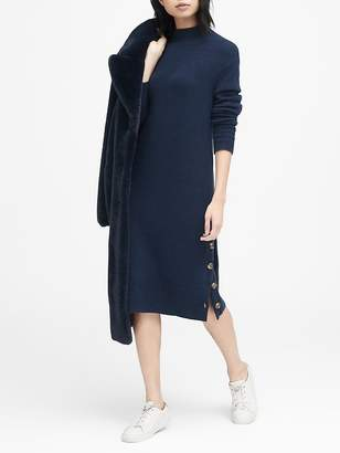 Banana Republic Turtleneck Sweater Dress with Button-Sides