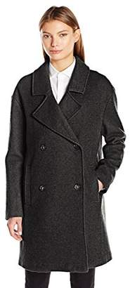 Tommy Hilfiger Women's Wool Boucle Oversized Double Breasted Coat