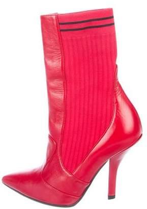 Fendi 2018 Rockoko Leather Boots