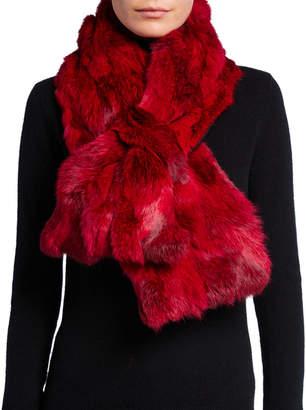 Adrienne Landau Fur Pull-Through Scarf