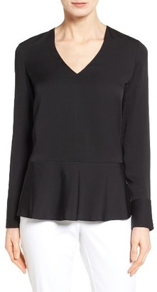 Women's Nordstrom Collection Silk Peplum Blouse $229 thestylecure.com
