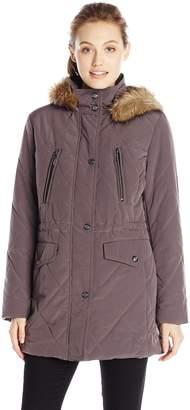 Fleet Street Ltd. Women's Diamond Quilted Anorak Puffer Coat
