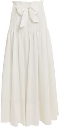AMUR Mary Poplin Tie Waist Skirt