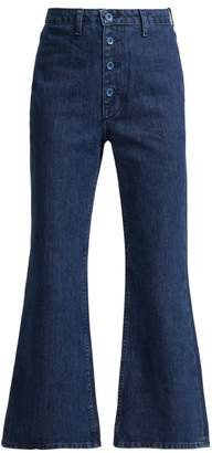Helena Staud Flared Jeans - Womens - Dark Blue