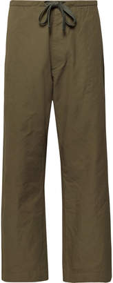 Chimala Cropped Wide-Leg Cotton And Linen-Blend Twill Drawstring Trousers