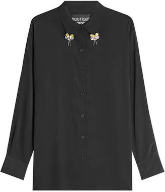 Moschino Embellished Blouse with Silk