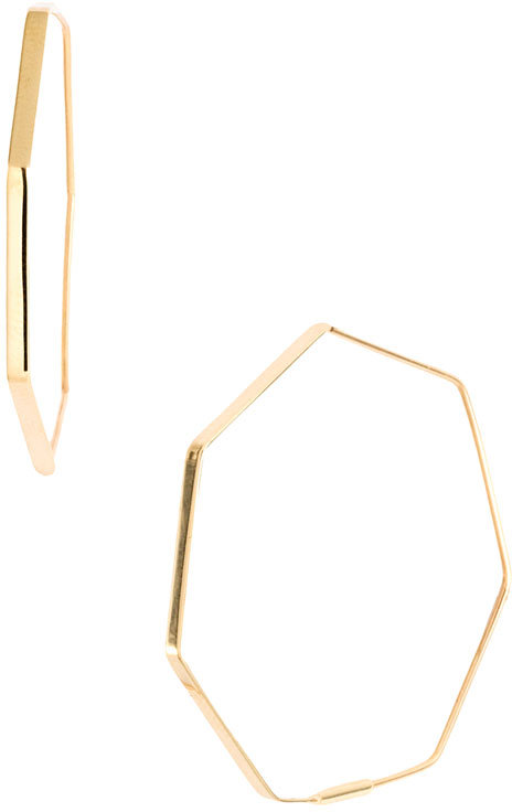 Lana Jewelry 'Small Rock' Hoop Earrings