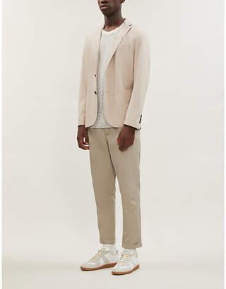 Single-breasted regular-fit wool-blend blazer