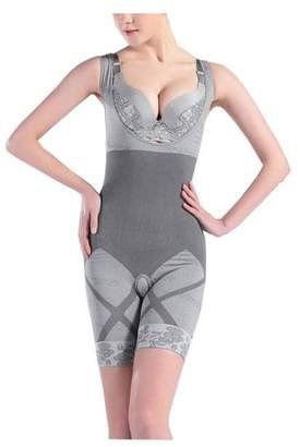 LaCasa Caldor Women's Full Body Suit Charcoal Fiber Waist Trimmer Body Shaper (1, Grey size Small/Medium)
