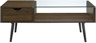 Mid-Century MODERN Hewson 42In Wood Coffee Table