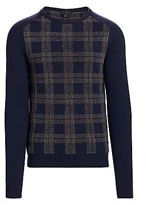 Saks Fifth Avenue Plaid Wool Blend Sweater