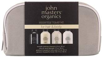 John Masters Four-Piece Essential Travel Set For Hair and Body