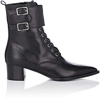 Gianvito Rossi Women's Leather Lace-Up Ankle Boots - Black