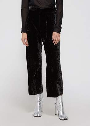 MS MIN Loose Cropped Velvet Pant