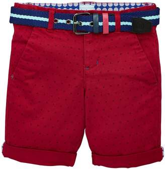 Ted Baker Boys Printed Chino Shorts - Plum