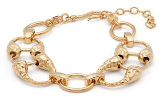 ATTICO The Hammered Gold Plated Ankle Bracelet - Womens - Gold