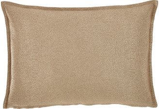 Fino Lino Linen & Lace Gecko Decorative Oblong Pillow