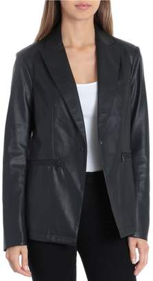 Bagatelle Faux Leather Blazer