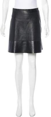 Proenza Schouler Perforated Leather Skirt