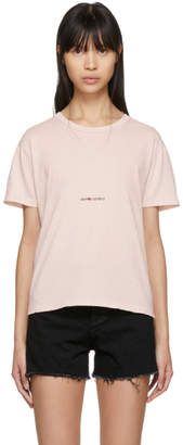 Saint Laurent Pink Destroyed Vintage Rive Gauche Volume T-Shirt