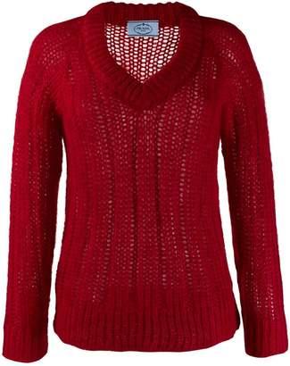 83b7a90ad579b5 Chunky Knit V Neck Sweater Womens - ShopStyle UK
