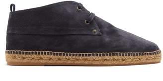 Castaner Suede lace-up espadrille desert boots