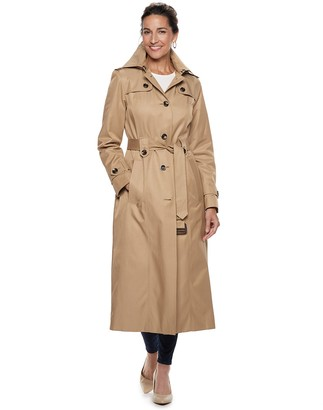 London Fog Tower By Women's TOWER by Hooded Long Trench Coat