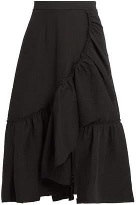 RACHEL COMEY Bonnie ruffled cotton-blend skirt $495 thestylecure.com