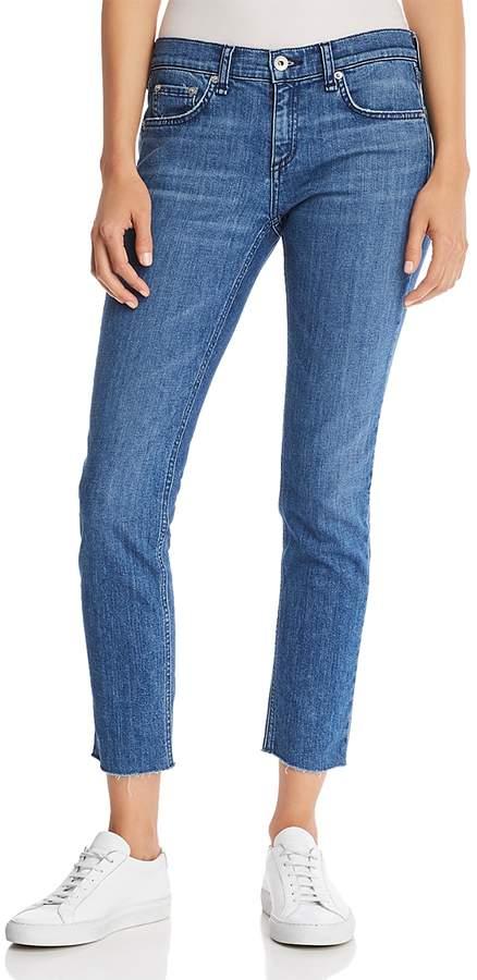 Dre Raw-Edge Slim Boyfriend Jeans in Lovie