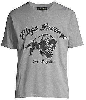 The Kooples Men's Plage Sauvage Graphic Tee