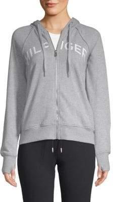 Tommy Hilfiger Zip-Front Logo Hoodie