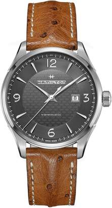 Hamilton Stainless Steel Analog Leather Strap Watch