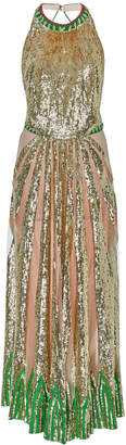 Temperley London Sycamore Sequin-Embellished Gown