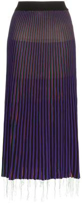 Marni striped pleated skirt