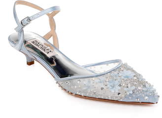 Badgley Mischka Collection Iris Kitten Heel Slingback Pump