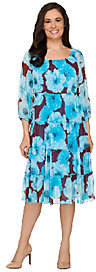 Linea by Louis Dell'Olio Floral Print TieredDress