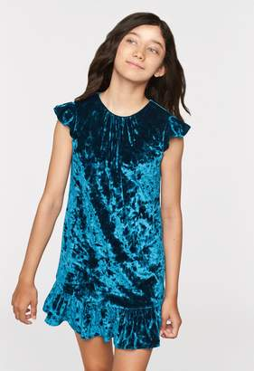 Milly Minis MillyMilly Stretch Crushed Velvet Shay Dress