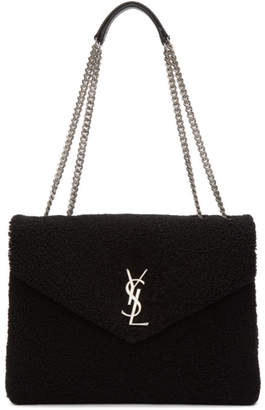Saint Laurent Black Medium Lou Shoulder Bag
