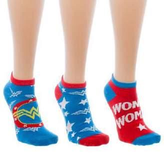 Wonder Woman Women's Ankle Socks - 3 Pack Standard