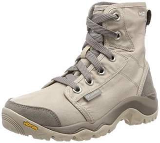 Columbia Women's Casual Boots, Waterproof, CAMDEN OUTDRY CHUKKA, Beige (Ancient Fossil, Grey Ice), Size: 8