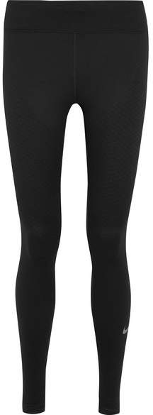 Nike - Zoned Strength Paneled Stretch-jersey Leggings - Black