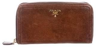 Prada Leather Zip Wallet