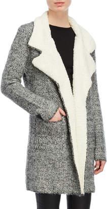Equipment Love Token Faux Fur Collar Knit Jacket