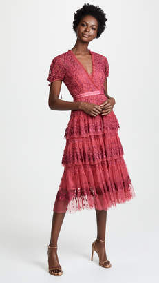 Needle & Thread Layered Lace Dress
