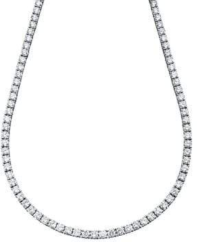 Crislu Classic Tennis Necklace With Brilliant Cubic Zirconia