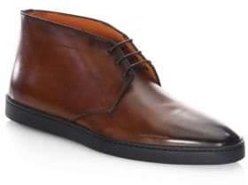 Santoni Eddy-2 Leather Chukka Boots