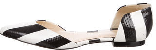 3.1 Phillip Lim 3.1 Phillip Lim Striped Pointed-Toe Flats