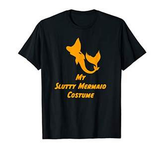 Funny Slutty Mermaid Lazy Sexy Woman Halloween Costume Gift T-Shirt