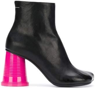 MM6 MAISON MARGIELA colour-block ankle boots
